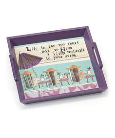 Take a look at this 'Life' Serving Tray by DEMDACO on #zulily today!