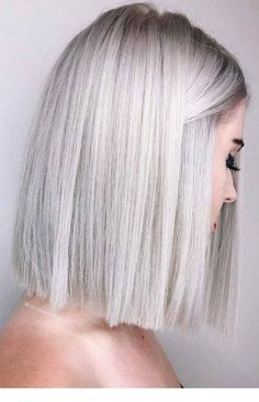 60 Stunning Platinum Blonde Hair Color Inspirations for Platinum blonde hair color ideas are highly-coveted shades. The fact of being very uncommon makes these platinum blonde hair color is so popular among. Winter Hairstyles, Hairstyles Haircuts, Straight Hairstyles, Lob Haircut Straight, Bob Haircuts, Summer Haircuts, Hairstyle Short, Blonde Hairstyles, Sleek Hairstyles