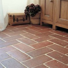 Terracotta tiles for laundry/mudroom floor