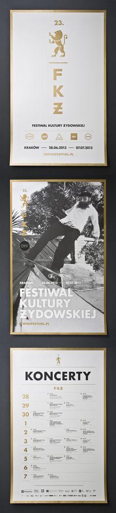 Poster of Festiwal Kultury Zydowskiej - Jewish culture festival by Studio Otwarte