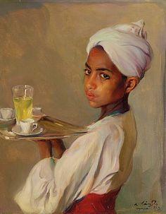 "Philip Alexius de Laszlo ""A Nubian Serving Boy"""