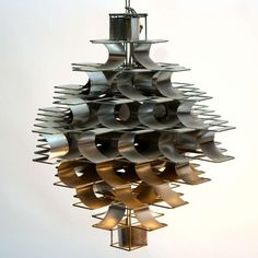 """Max Sauze """"Cassiopée"""" Ceiling Light   From a unique collection of antique and modern chandeliers and pendants  at https://www.1stdibs.com/furniture/lighting/chandeliers-pendant-lights/"""