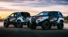 Isuzu revealed the concept x isuzu team d-max-tuned monster trucks based on top of the isuzu d-max truck and the isuzu mu-x suv.
