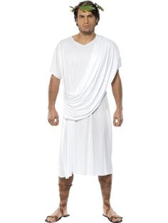 Men of the Roman Republic typically wore togas. The color and cut of cloth identified the class of the person wearing it.