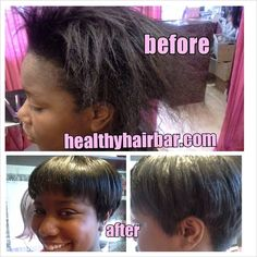 Healthy Hair Bar to the rescue! Helping a college student transition out of relaxers into healthy hair with California Flow mineral hair softener.