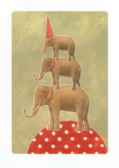 Playing Circus Print by joutomaa on Etsy, $15.00