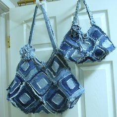 Upscaled jean purses.
