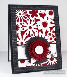 Romantic Script Background, Floral Fusion Cover-Up Die-namics, Gerbera Daisy Die-namics, Horizontal Stitched Strips Die-namics, Rectangle Frames Die-namics, Stitched Circle STAX Die-namics, Upsy Daisy Die-namics - Cindy Lawrence #mftstamps