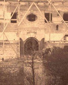 brama w skrzydle południowym - początki rekonstrukcji