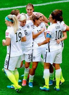 Lloyd | Johnston | Brian | Heath | Morgan | Rapinoe | Klingerberg |