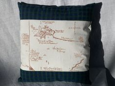 LOTR Map Pillow or Strong and Smokey Dragon's by joliefemmebydiana