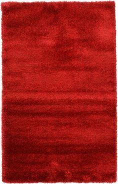 Luxe Solo Red Area Rug