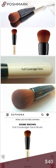 Bobbie Brown Full Coverage Foundation Brush! 🙌 New 🌟 Bobbie Brow Full Coverage Foundation Brush!! Authentic 💯💯 If you are looking for a full coverage- flawless face, this is the brush for you!! 🙌 Gifts with Purchase! 🎉🎉 No Box* Bobbi Brown Makeup Brushes & Tools