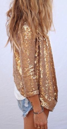 Glitter blazer from Zara