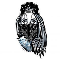Tattoo Design Drawings, Cool Art Drawings, Art Drawings Sketches, Tattoo Sketches, Lettrage Chicano, Chicano Tattoos, Skull Girl Tattoo, Girl Face Tattoo, Tattoos Realistic
