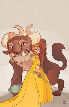 Exquisite Disney Fan Art Features Princesses Holding Elegant Weapons