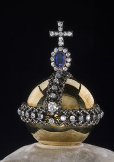 Detail of a Faberge Miniature of the Imperial Coronation Regalia, St. Petersburg, C. Faberge's Company. 1900.
