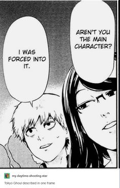 The whole basis of Tokyo Ghoul in one frame.