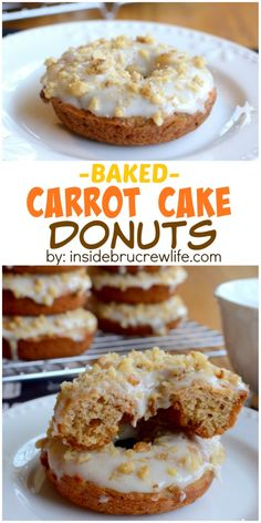 These easy baked donuts are the perfect way to enjoy carrot cake for breakfast. The post These easy baked donuts are the perfect way to enjoy carrot cake for breakfast. appeared first on Orchid Dessert. Baked Donut Recipes, Baked Doughnuts, Cake Recipes, Dessert Recipes, Donuts Donuts, Delicious Donuts, Delicious Desserts, Healthy Donuts, Doughnut Cake
