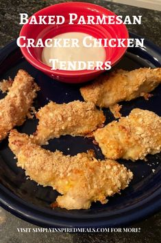 """Tasty and easy oven baked chicken tenders using saltine crackers and Parmesan Cheese. A slightly different spin on traditional breaded chicken that will have your family saying """"Yum"""" Oven Baked Chicken Tenders, Parmesan Chicken Tenders, Easy Oven Baked Chicken, Chicken Tender Recipes, Breaded Chicken, Broccoli Cheese Casserole, Turkey Casserole, Cracker Chicken, How To Cook Broccoli"""