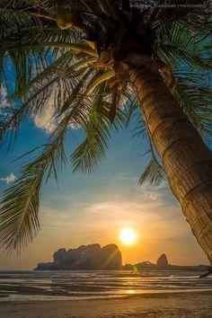 Sun set on the beach Beautiful Sunrise, Beautiful Beaches, Landscape Photography, Nature Photography, The Beach, Summer Beach, Belle Photo, Beautiful Landscapes, Beautiful Scenery