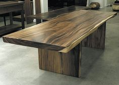 Live Edge Dining Table with Wood Legs by ArtisanTeak on Etsy, $2599.00