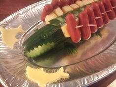 Traktatie: krokodil en haai van komkommer | Eet het beter | Bloglovin'