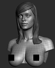 Zbrush 4R6 3d Female head model 10