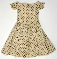 cotton dress.  1850–59.