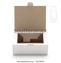 Retail Box with Lid and Die Line Template