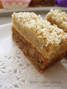 La cuisine creative - Krem kocke (štangle) od oraha Bakery Recipes, Cookie Recipes, Dessert Recipes, Kolaci I Torte, Torte Cake, Croatian Recipes, Albanian Recipes, Little Cakes, Homemade Cakes