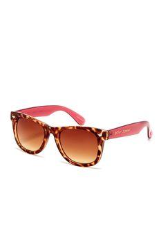 Betsey Johnson | Women's Classic Wayfarer Plastic Sunglasses | Nordstrom Rack