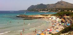 Stranden Platja de Sant Joan i Mal Pas-Bon Aire på Mallorca