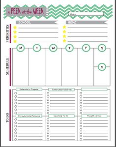 13 Free Planner Pages and Resources For Teachers | Dawgeared.com