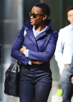 blackguysloveblackgirls:   Lupita Nyong'o steps out looking fashionable in New York City - 4/28/14   fashionable? tea cozies are fashionable. cardigans are fashionable.Lupita Nyong'o,Lupita Nyong'o is fucking flawless.