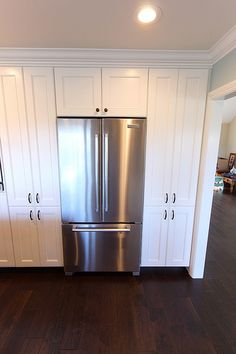 Kitchen Cabinets Around Fridge kitchen cabinet refrigerators | cabinets were built deeper to