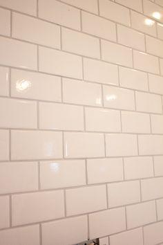 Delorean Gray Grout With White Subway Tile Tile Subway