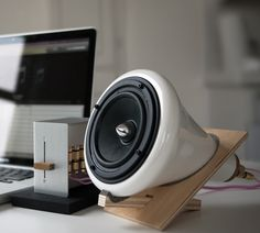 make wooden speakers also http://www.amazon.com/Joey-Roth-CRM-001-Ceramic-Speakers/dp/B0032FPQPY?ie=UTF8=miksthi-20