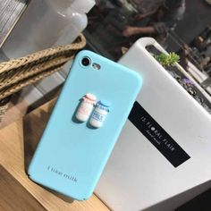 931d0c56ec3c   3.27 For iPhone 6 Plus   6s Plus I Like Milk Words Pattern Protective  Back Cover Case(Blue)