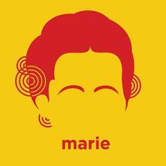 Cabellos de ciencia Marie Curie