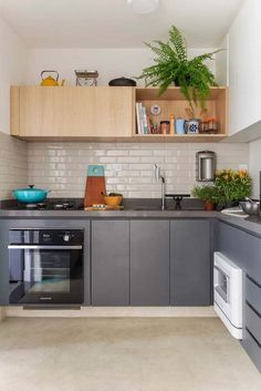 58 Ideas Home Kitchen Living Room Subway Tiles Retro Kitchen Decor, Kitchen Sets, Living Room Kitchen, Kitchen Interior, Kitchen Design, Kitchen Flooring, Kitchen Backsplash, Interiores Design, Cubes