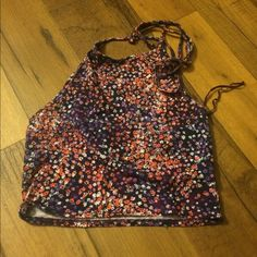Floral halter crop top Floral halter crop top Aeropostale Tops Crop Tops