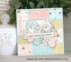 Cute winter snowman card. Great for a birthday or just to let some know how much you love them. FQB - Little Mittens Collection from Nitwit Collections™