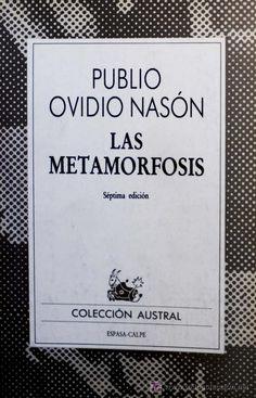 PUBLIO OVIDIO NASÓN. LAS METAMORFOSIS.