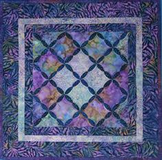 beautiful blues | Cathedral Window Quilt