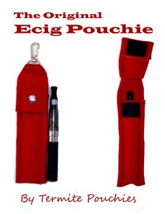 LARGE Ecig Pouch/Holder with Clip and Lanyard by TermitePouchies