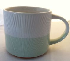 Starbucks Sea Foam Green and White Textured Coffee Mug #GiftIdea #Starbucks