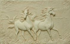 Plaques, Medals, Medalions, Coins, Tokens sculpture by artist David Cornell titled: 'Running Free' #sculpture #art