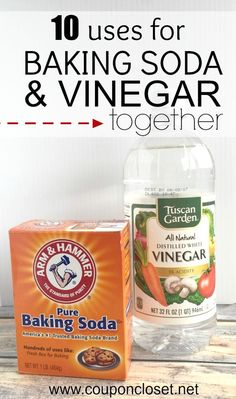 Here are different uses for baking soda and vinegar together. We have some clever cleaning tips to use baking soda and vinegar that will help you save money Baking Soda Cleaning, Baking Soda Uses, Household Cleaning Tips, House Cleaning Tips, Cleaning Hacks, Cleaning With Vinegar, Baking Soda Face, Cleaning Mold, Bicarbonate Of Soda Uses Cleaning