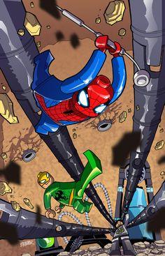 Lego Spiderman, Lego Marvel, Lego Universe, Disney Marvel, Legos, Cartoon Network, Fan Art, Draw, Deviantart